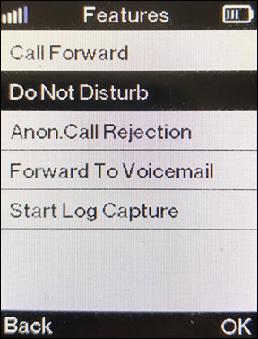 select do not disturb