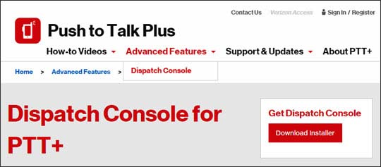 Push to Talk Plus Dispatch Console download