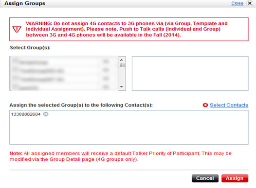 Assign contacts to enterprise groups