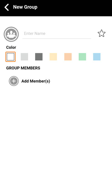 Groups add screen