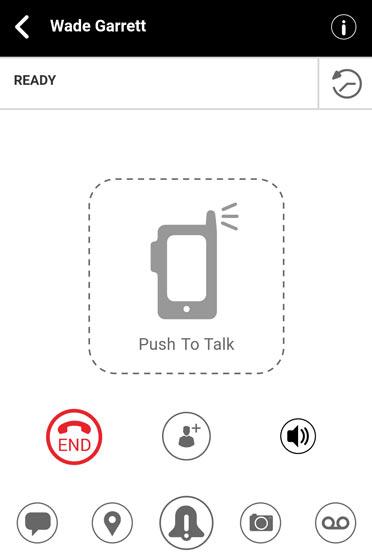 Push to Talk Plus call ready screen