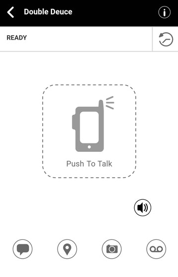 Push to Talk Plus group call ready screen