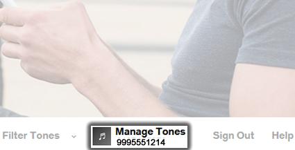 Click Manage Tones