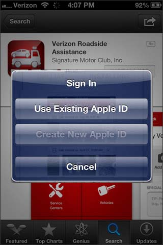 Use Existing Apple ID