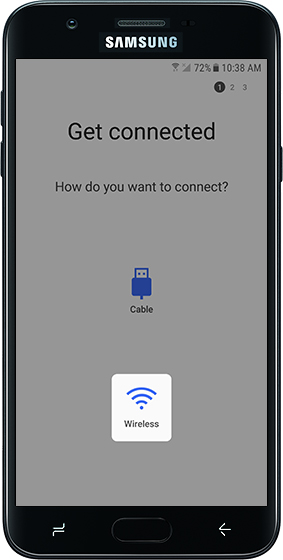 Get connected screen on old device with emphasis on Wireless