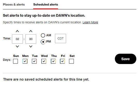 Add scheduled alerts