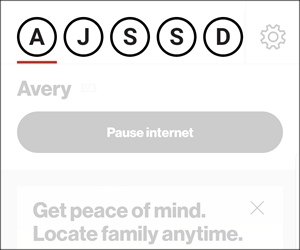 pause or resume internet connectivity verizon smart family app