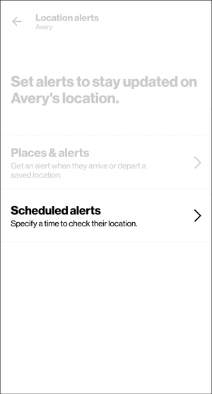 Location alerts with Scheduled alerts