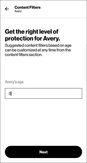 Content Filters with age