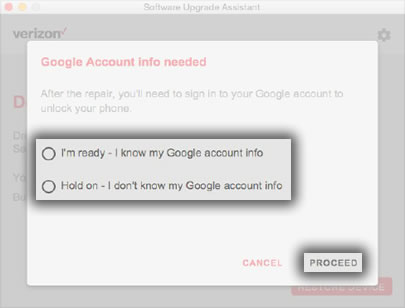 Google Account Info Needed