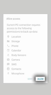 Allow Access Screen