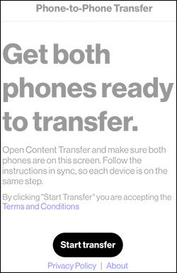 Oprime Start Transfer