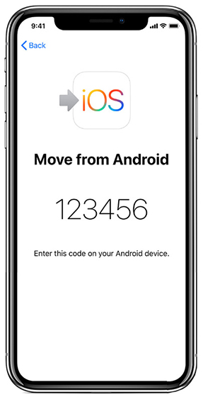 Move from Android screen with security code