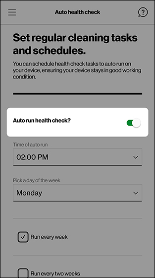 My Verizon app - Android - Device Health Check | Verizon ...