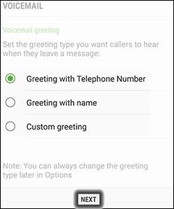 Access basic visual voicemail samsung verizon wireless tap next m4hsunfo