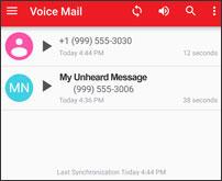 Voice Mail inbox