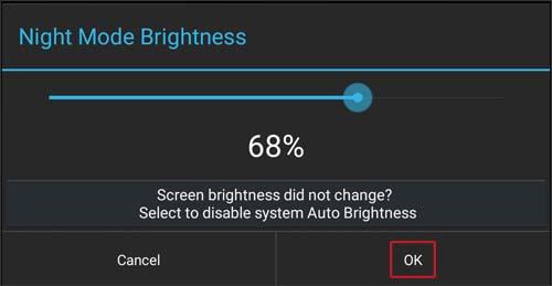 Night Mode Brightness dot