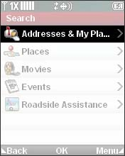 Select Addresses & My Places