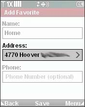 Select the Address Field