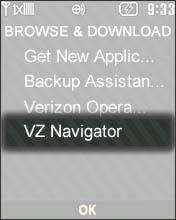 Selecciona VZ Navigator