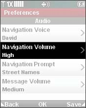 Select Navigation Volume