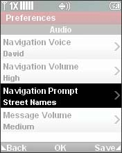 Select Navigation Prompt
