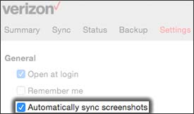 Click Automatically Sync Screenshots