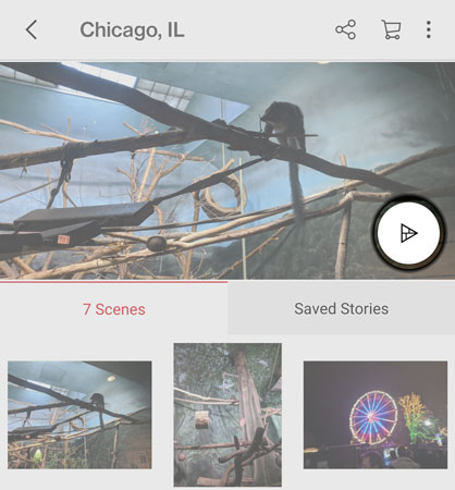 Tap the Play Story Icon