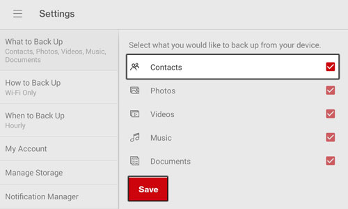 Select Contacts and Save