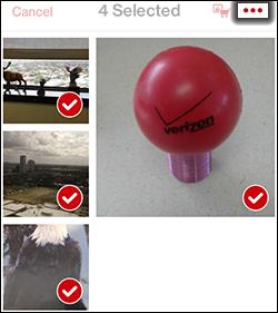 Tap the Contextual Menu Icon