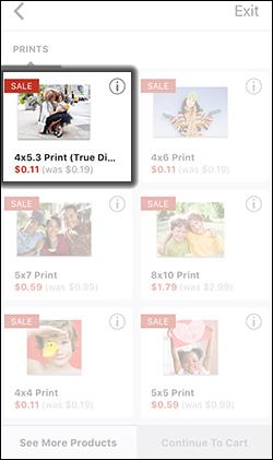 Select a Print Size