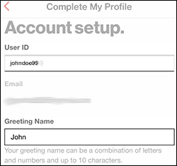 Enter the User ID