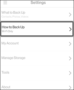 Tap How to Backup