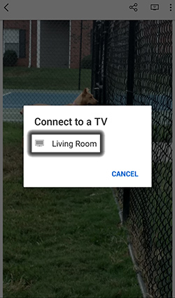 Tap the TV to Connect to