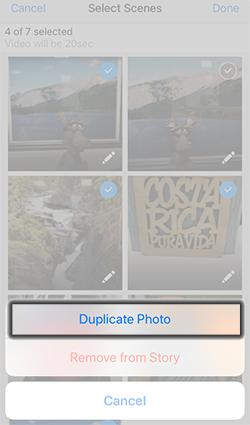 Tap Duplicate Photo
