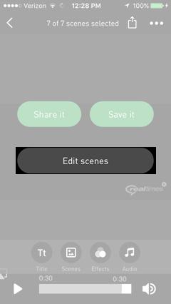 Tap Edit Scenes