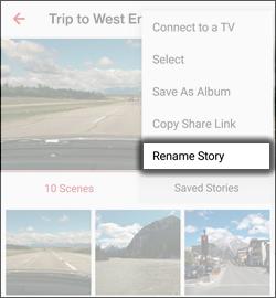 Tap Rename Story