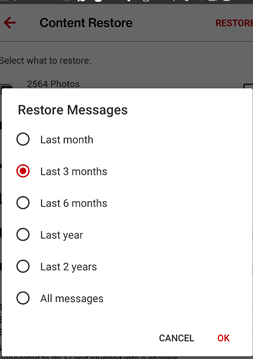 change restore time