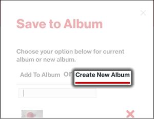 Tap Create New Album
