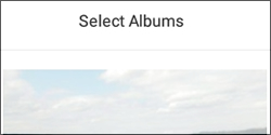Tap Select Albums
