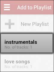 Oprime una playlist