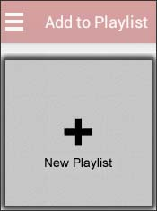 Tap New Playlist