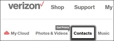 Hacer clic en Contacts