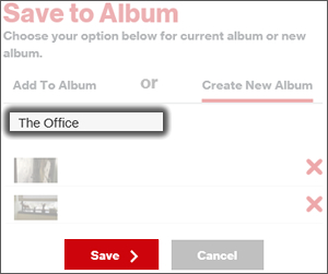 Click Create New Album