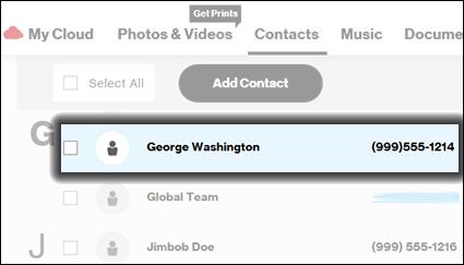 Click a Contact