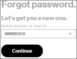 how to recover your verizon email password