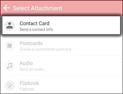 Tap Contact Card