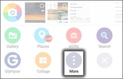 Tap More icon