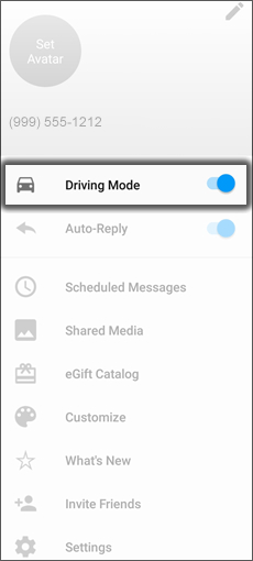 Tap Driving Mode