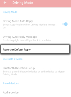 Revert to Default Reply